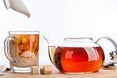 ディゾルブミルクの紅茶を淹れます。