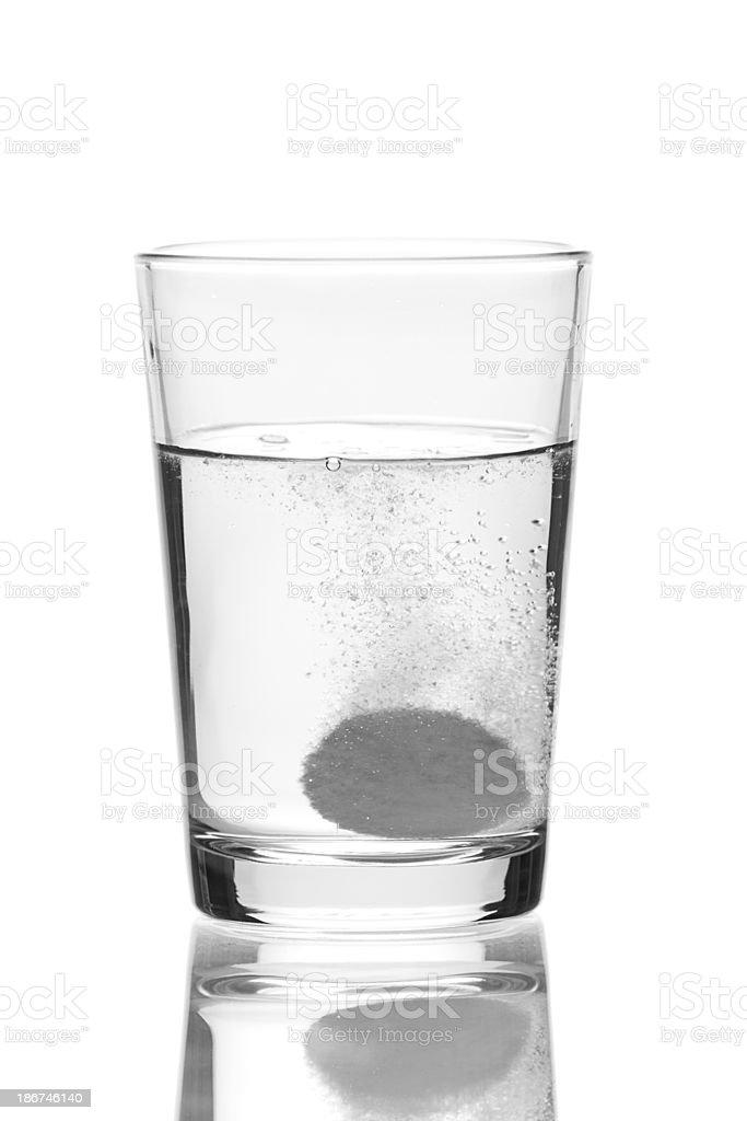 dissolving effervescent tablet stock photo