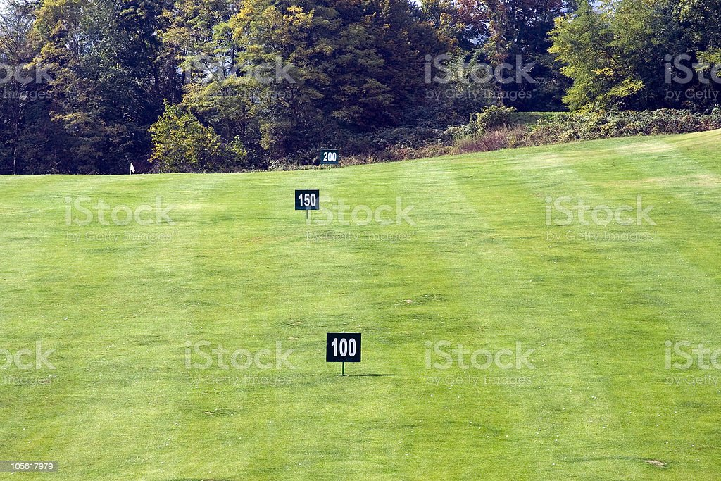 Distance Marker On The Golf Course Stock Photo Download Image Now Istock