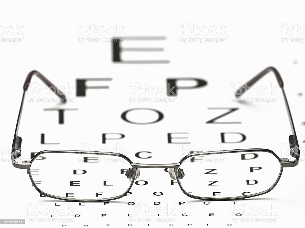 Distance Vision Test royalty-free stock photo