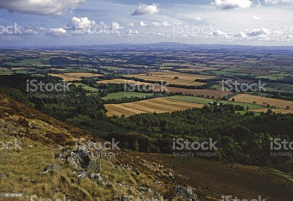 Distant Cheviot from Eildon Hills,Melrose, Scotland stock photo