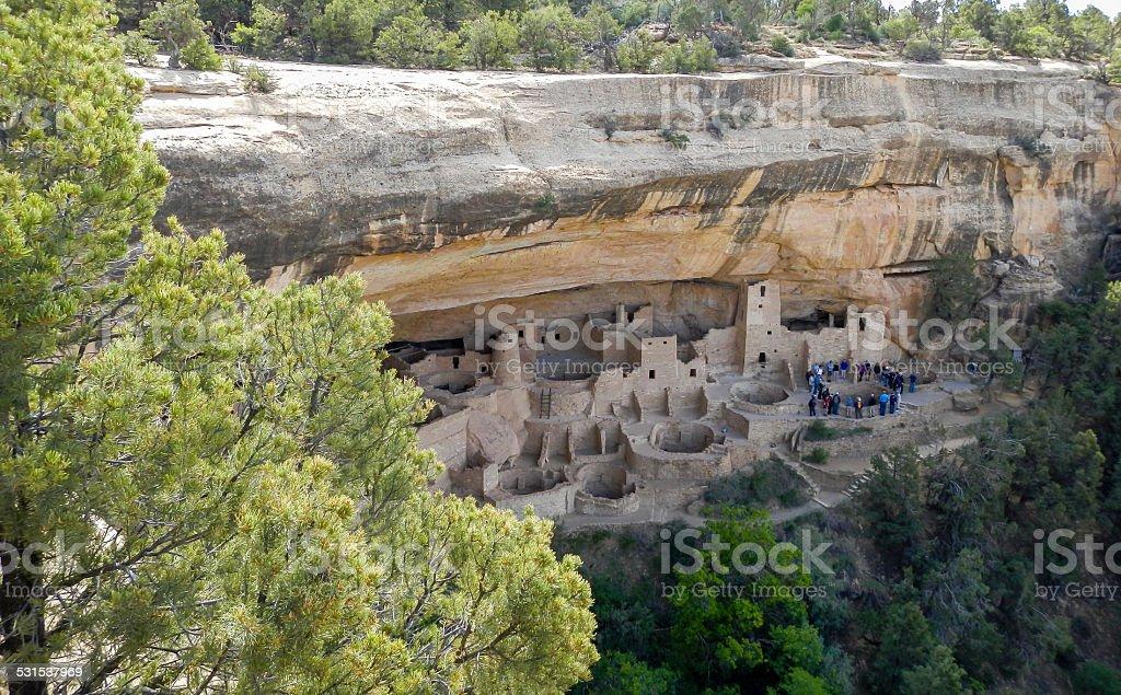 Distant Mesa Verde stock photo