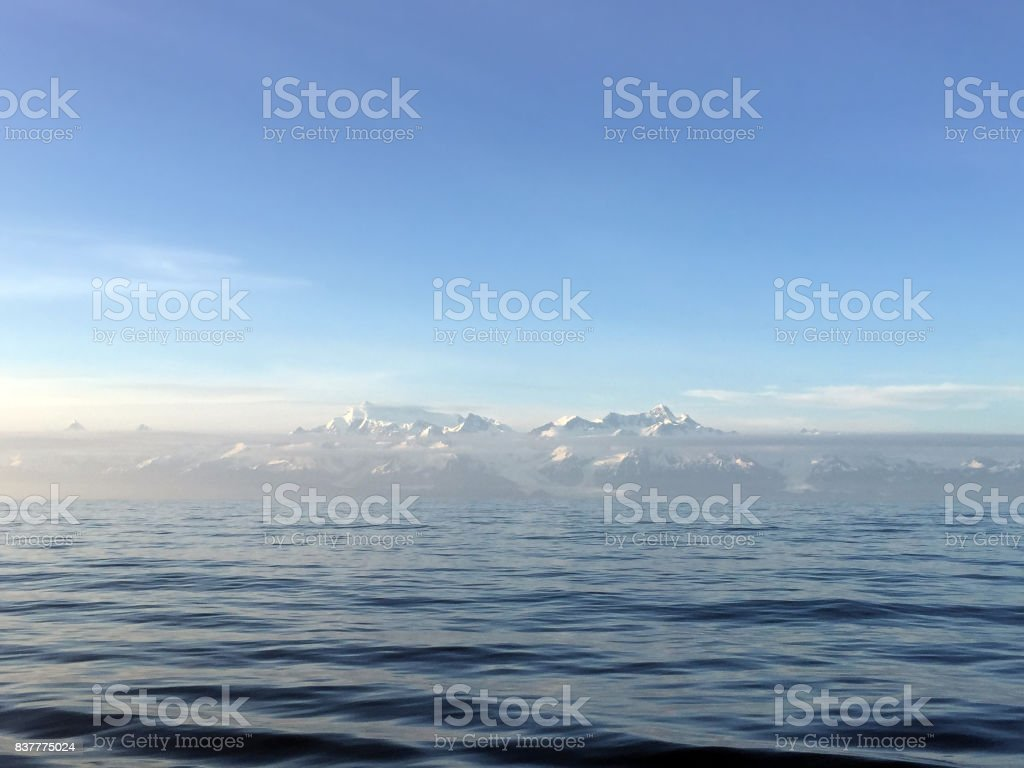 Distant Mountain Range stock photo
