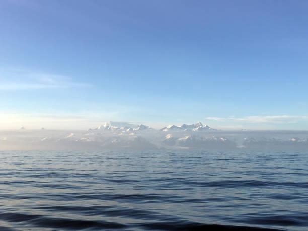 Distant Mountain Range stock photo