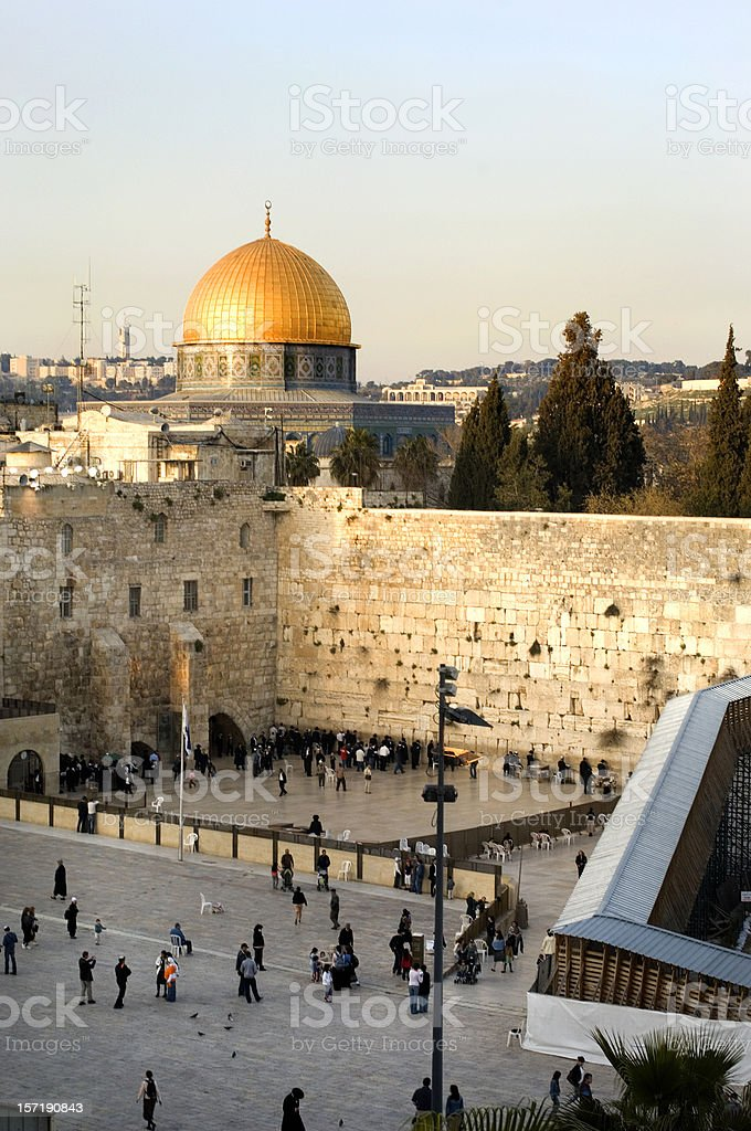 A distant shot of a morning in Jerusalem royalty-free stock photo