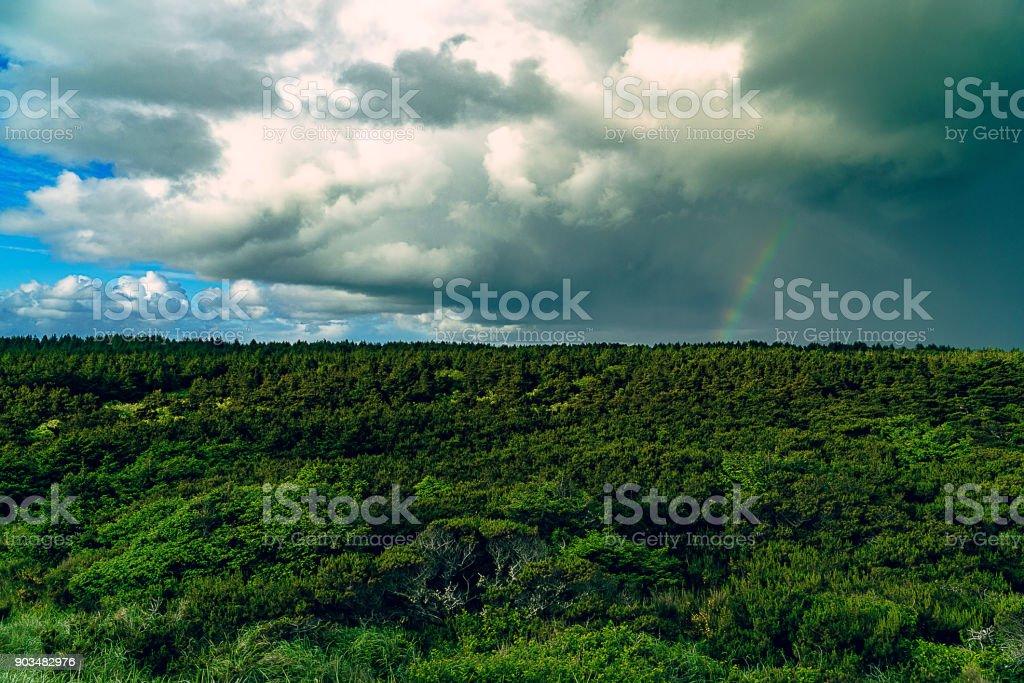 Distant storms stock photo