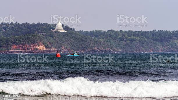 Distant view of the Rumassala temple
