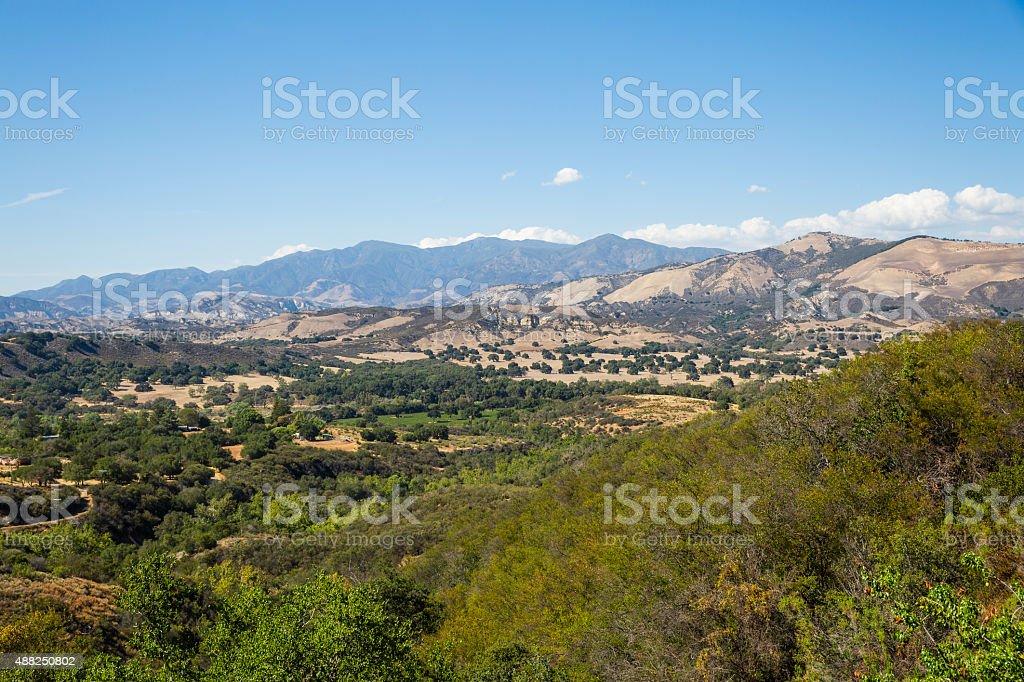 Distant View of The Santa Ynez and San Rafael Mountains stock photo