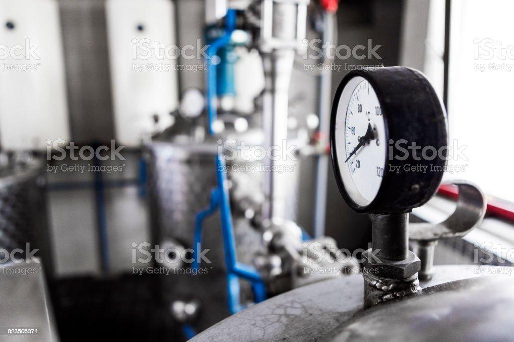 Distillation room stock photo