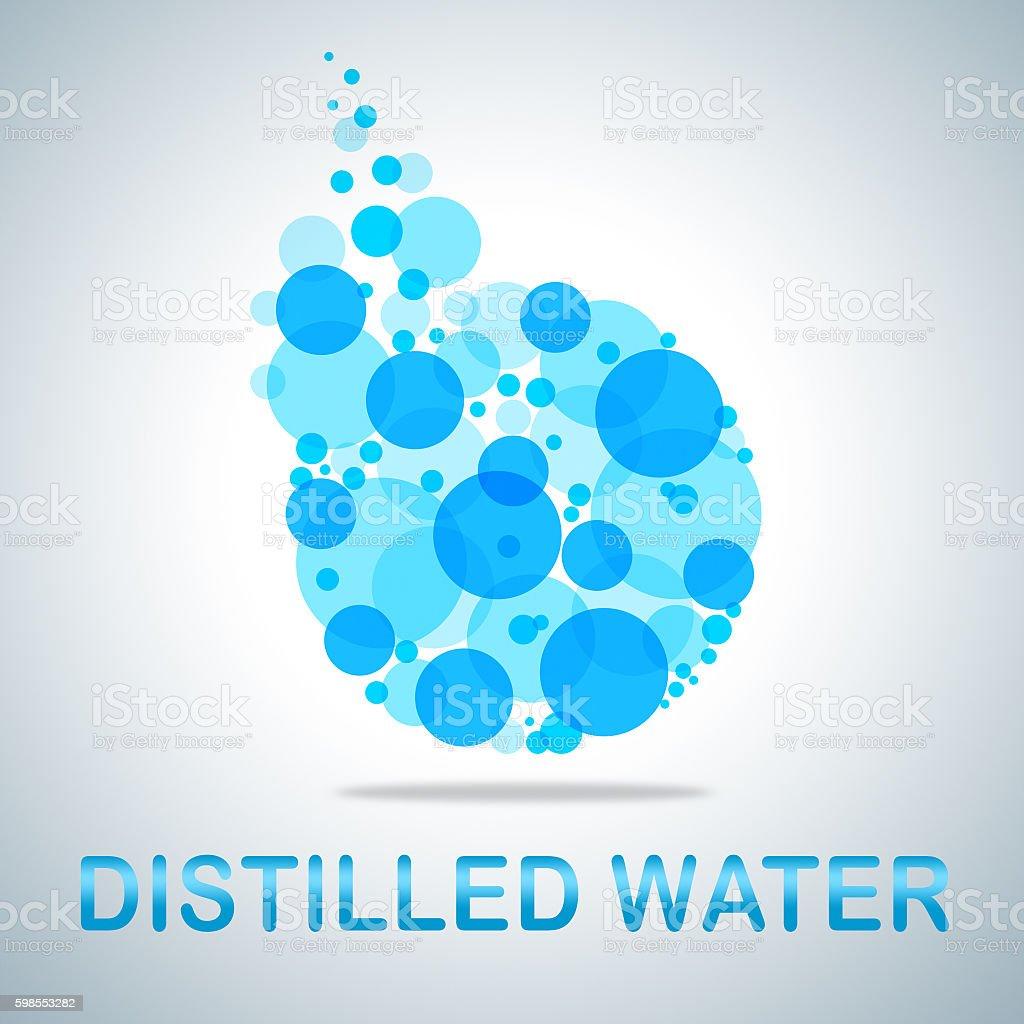 Distilled Water Represents Aqua Potable And Deionized stock photo