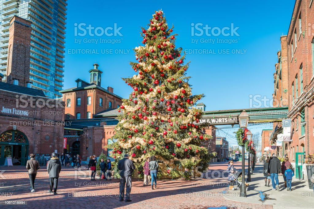Christmas In Toronto Canada.Distillery District In Toronto Ontario Canada During