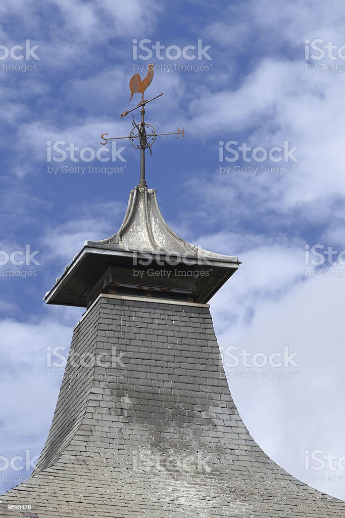 distillery roof royalty-free stock photo