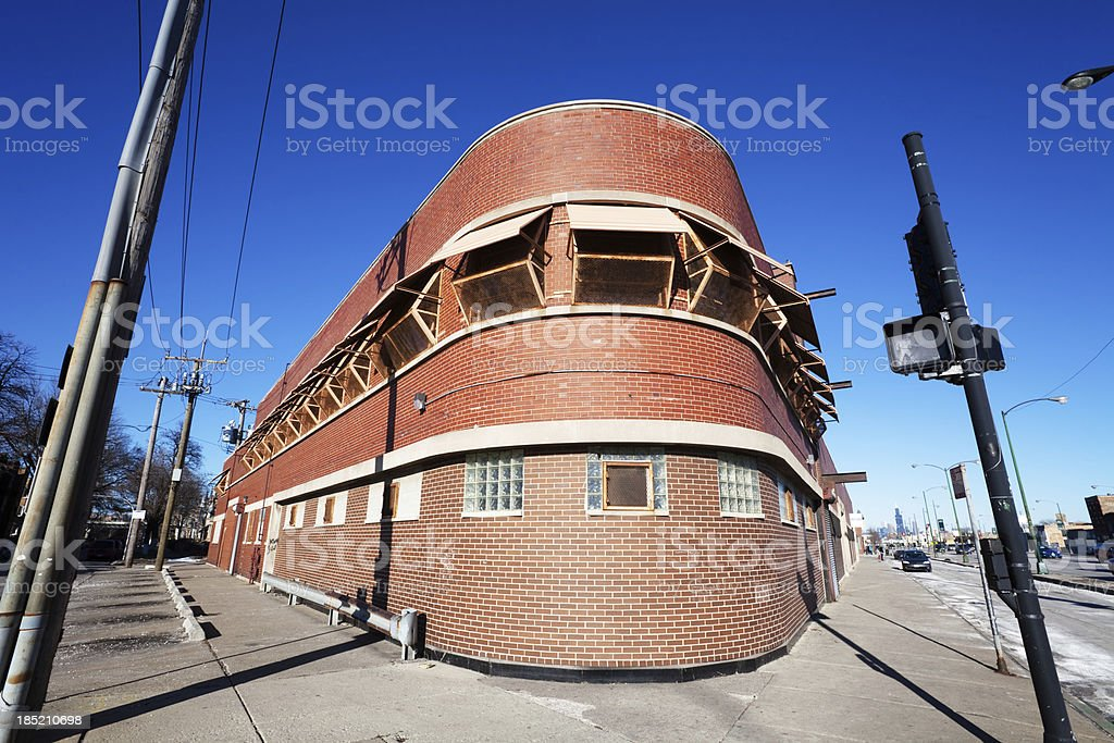 Distinctive Commercial building in North Lawndale, Chicago royalty-free stock photo
