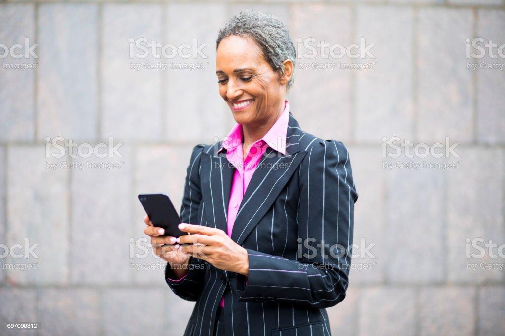 Distinguished Senior African American Businesswoman stock photo