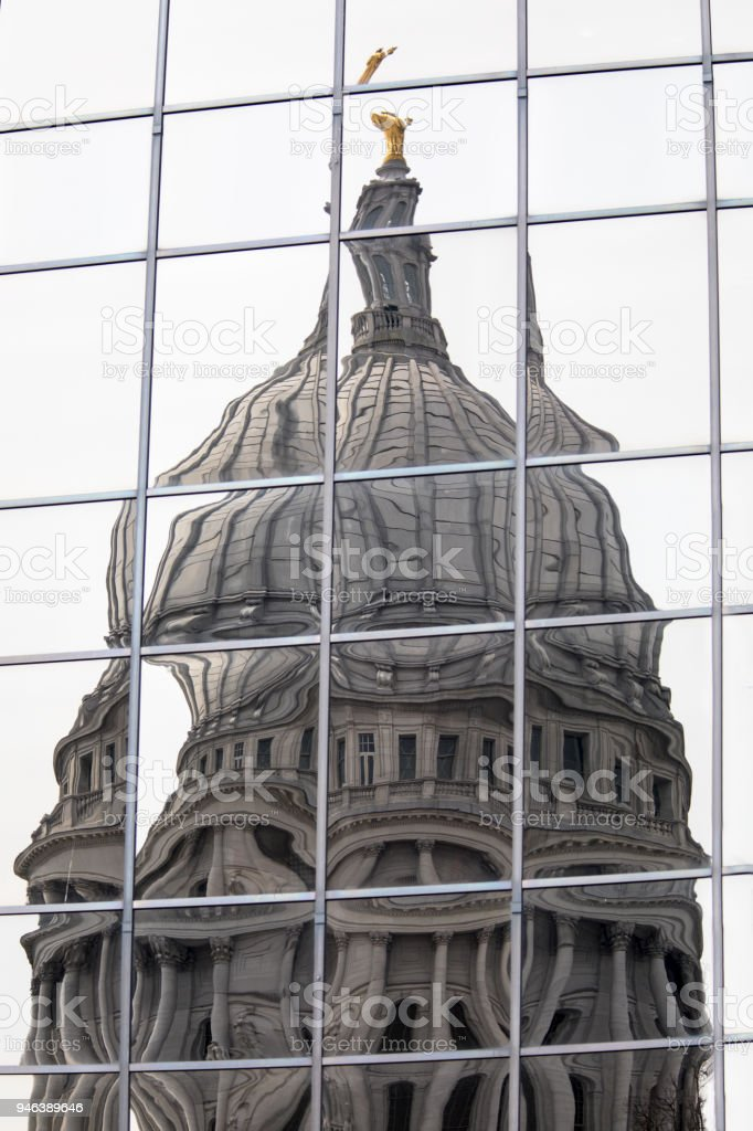Distorted Capitol Dome stock photo