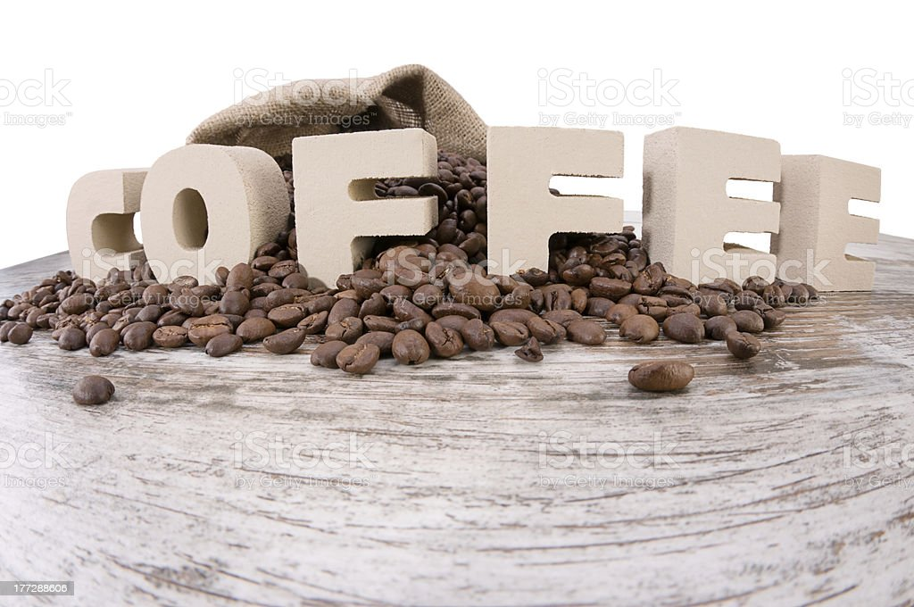 Distorted Coffee Letters royalty-free stock photo