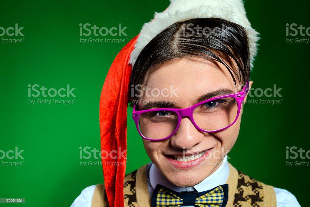 distorted nerd royalty-free stock photo