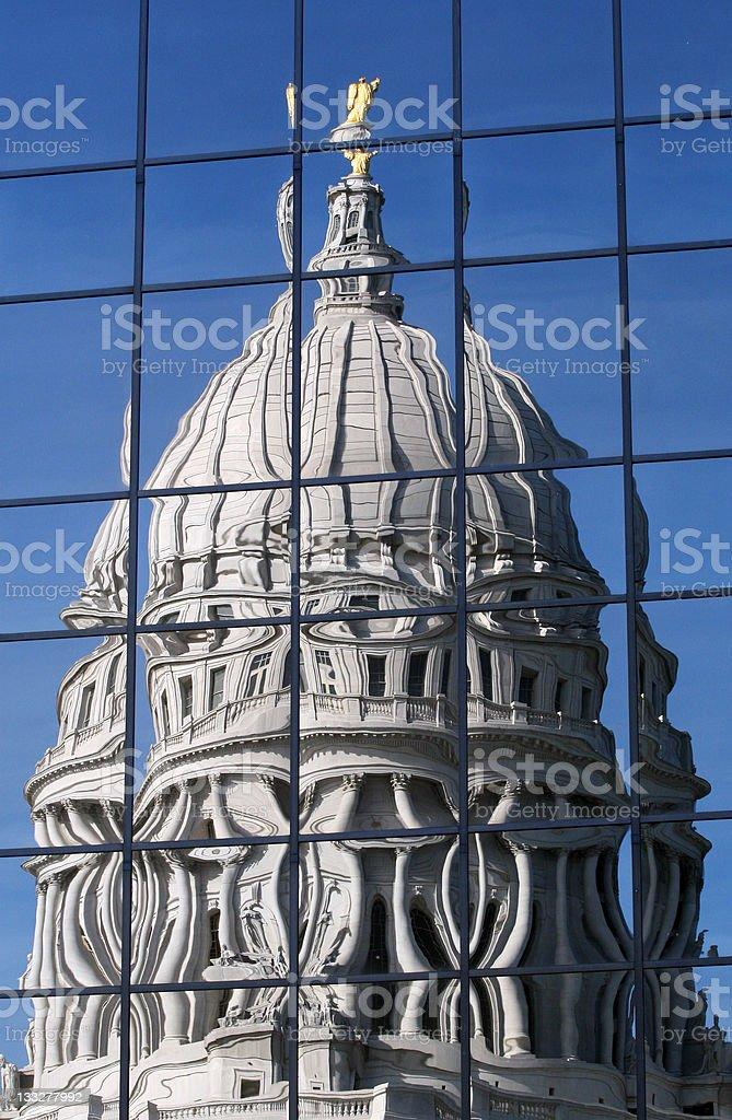 Distorted Politics royalty-free stock photo