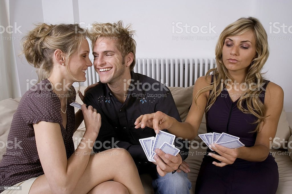 Distract him and Cheat royalty-free stock photo