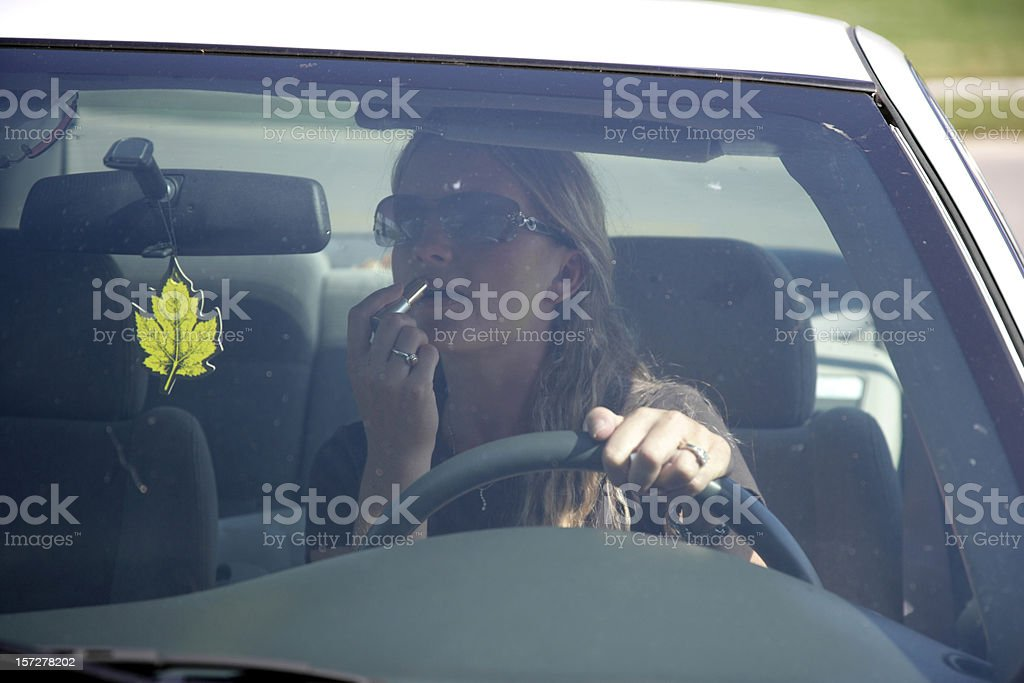 Distracted Driving royalty-free stock photo