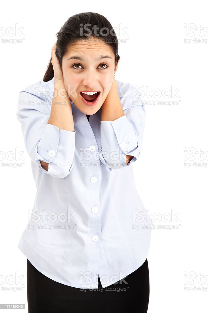 Distraught Businesswoman royalty-free stock photo