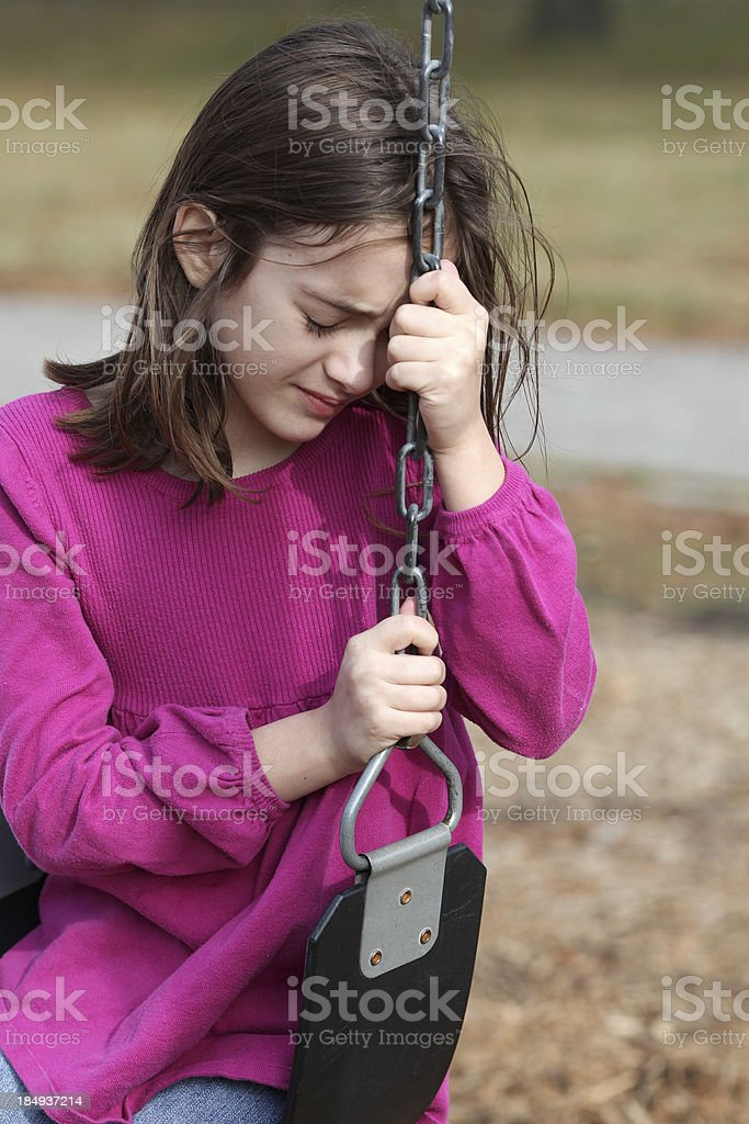 Distraught Little Girl royalty-free stock photo