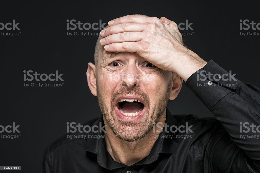 Sad Distraught Man Closeup Portrait Stock Photo 713640763 ...
