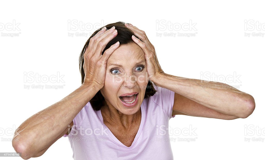 Distraught woman royalty-free stock photo