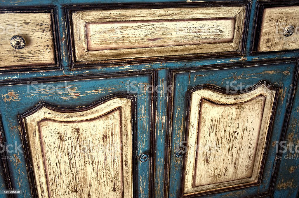 Distressed Antique Cabinet royalty-free stock photo