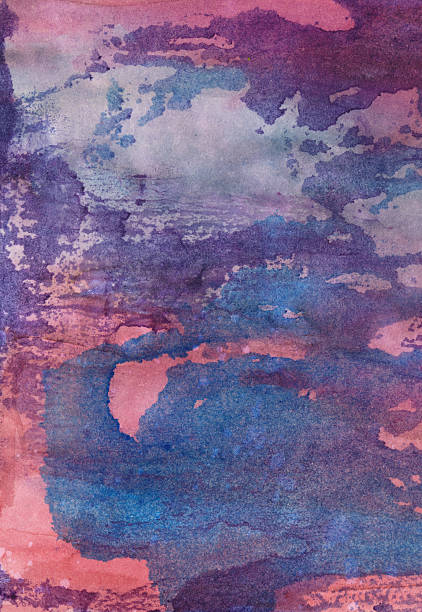 Distressed blue and pink hand painted background with texture圖像檔