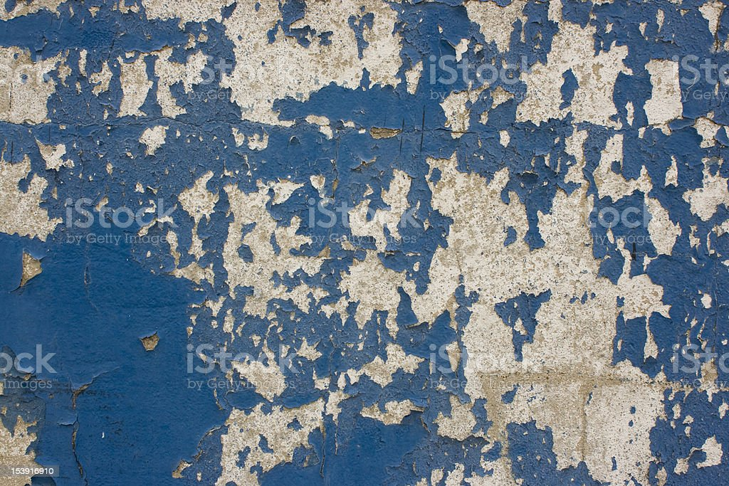 Distressed blue and white wall. royalty-free stock photo