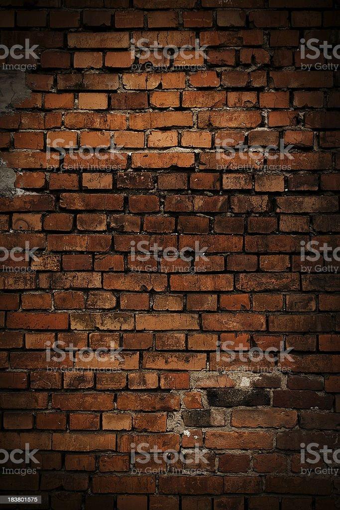 Distressed brick wall royalty-free stock photo