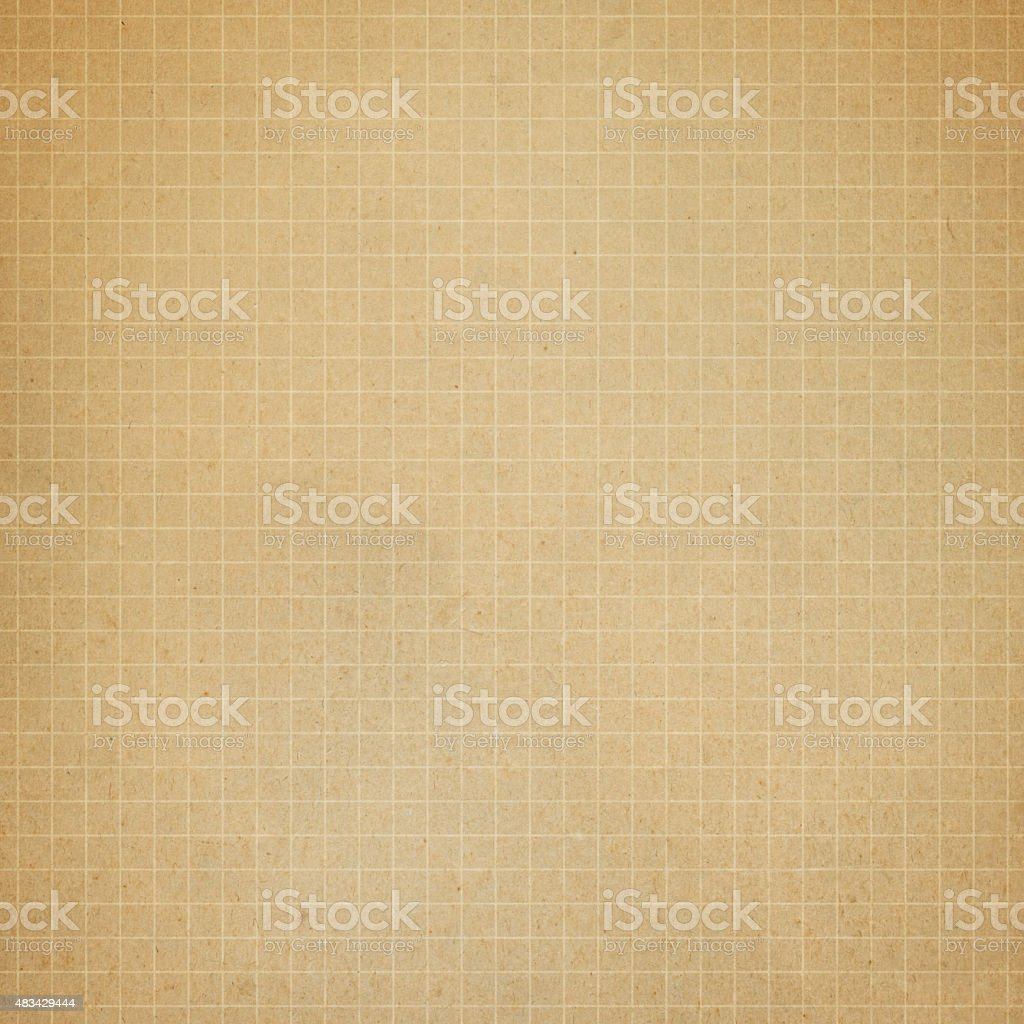 Distressed brown graph paper stock photo