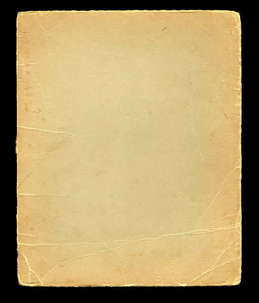 distressed cardstock on black background texture stock photo