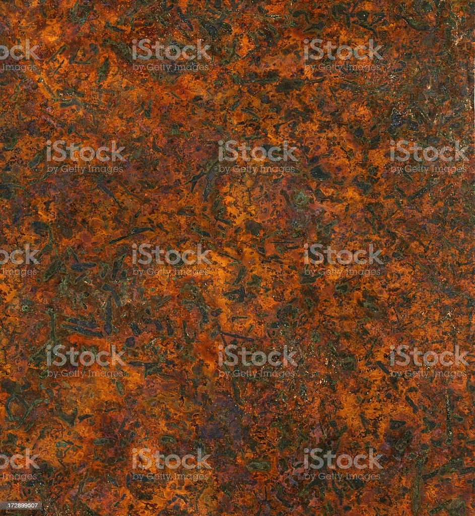 distressed copper surface royalty-free stock photo