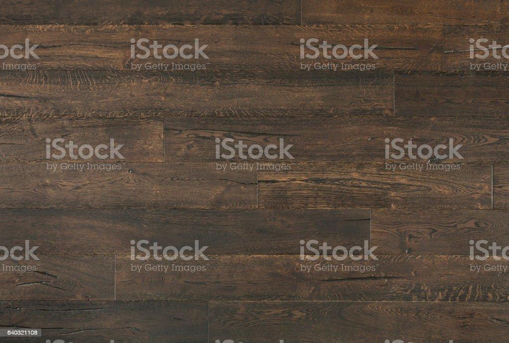 Distressed Dark Oak Textured Vintage Wood Background stock photo