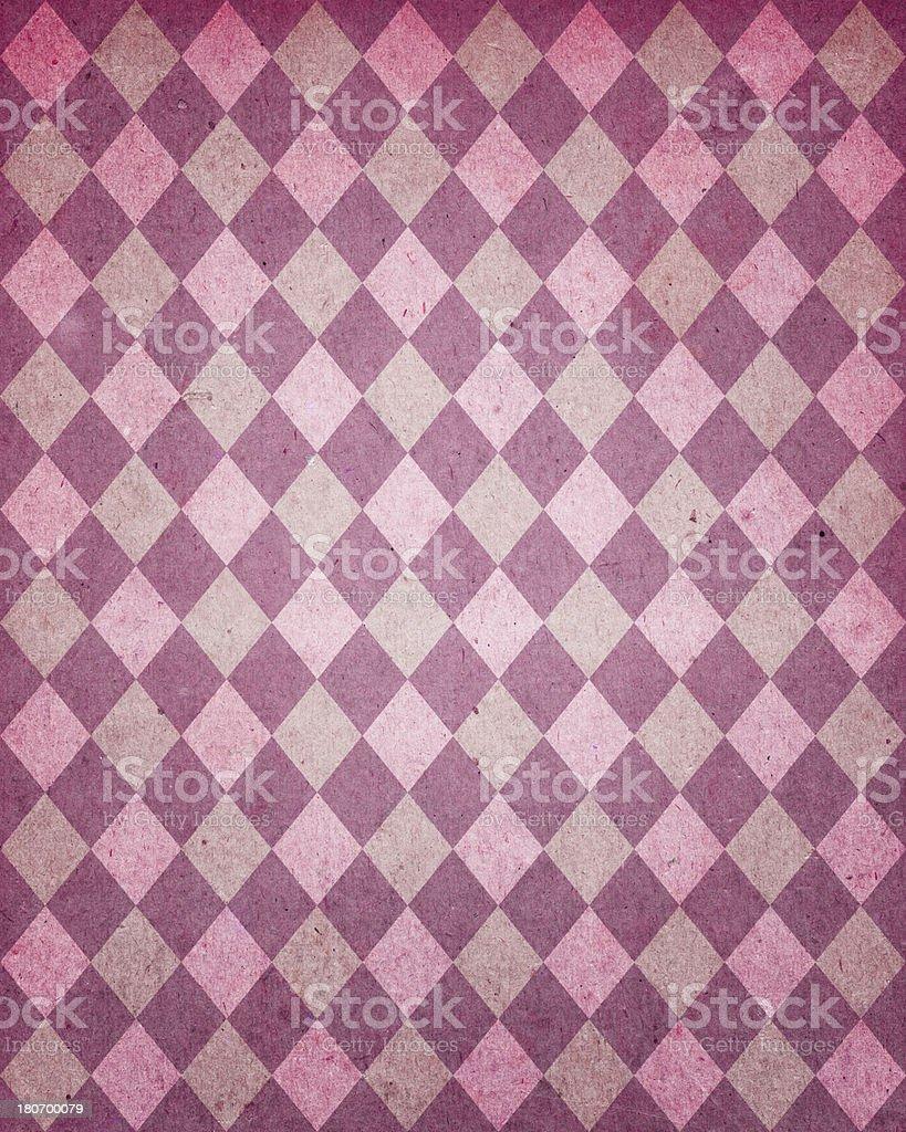 distressed diamond pattern paper stock photo