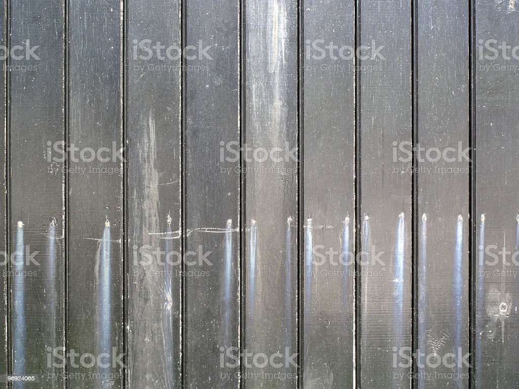 Distressed Grey Painted  Wooden Fence royalty-free stock photo