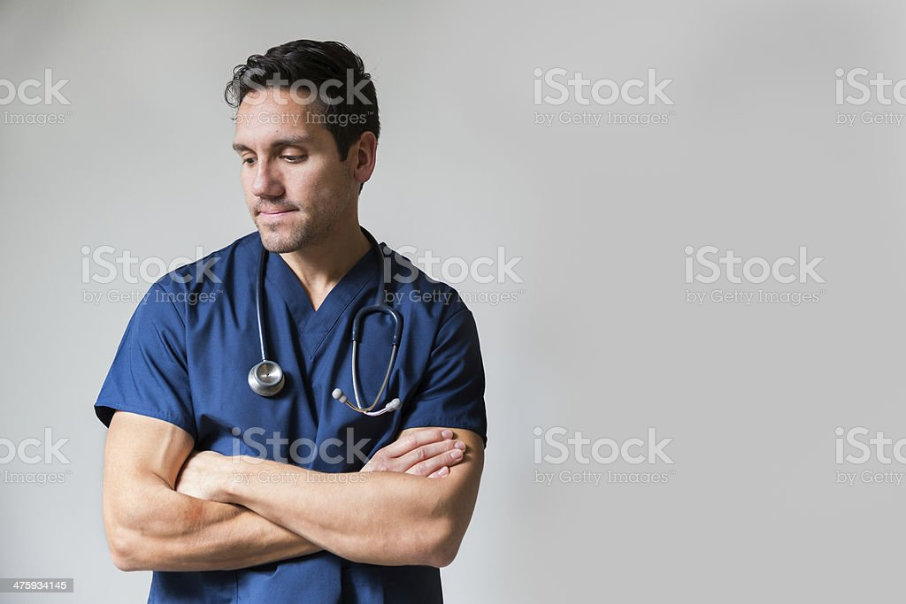 Distressed medical provider stock photo