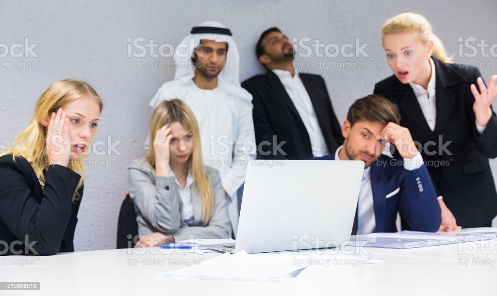 Distressed Meeting stock photo