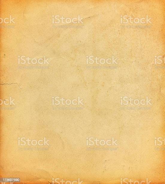 Distressed Paper With Halftone Pattern Stock Photo - Download Image Now