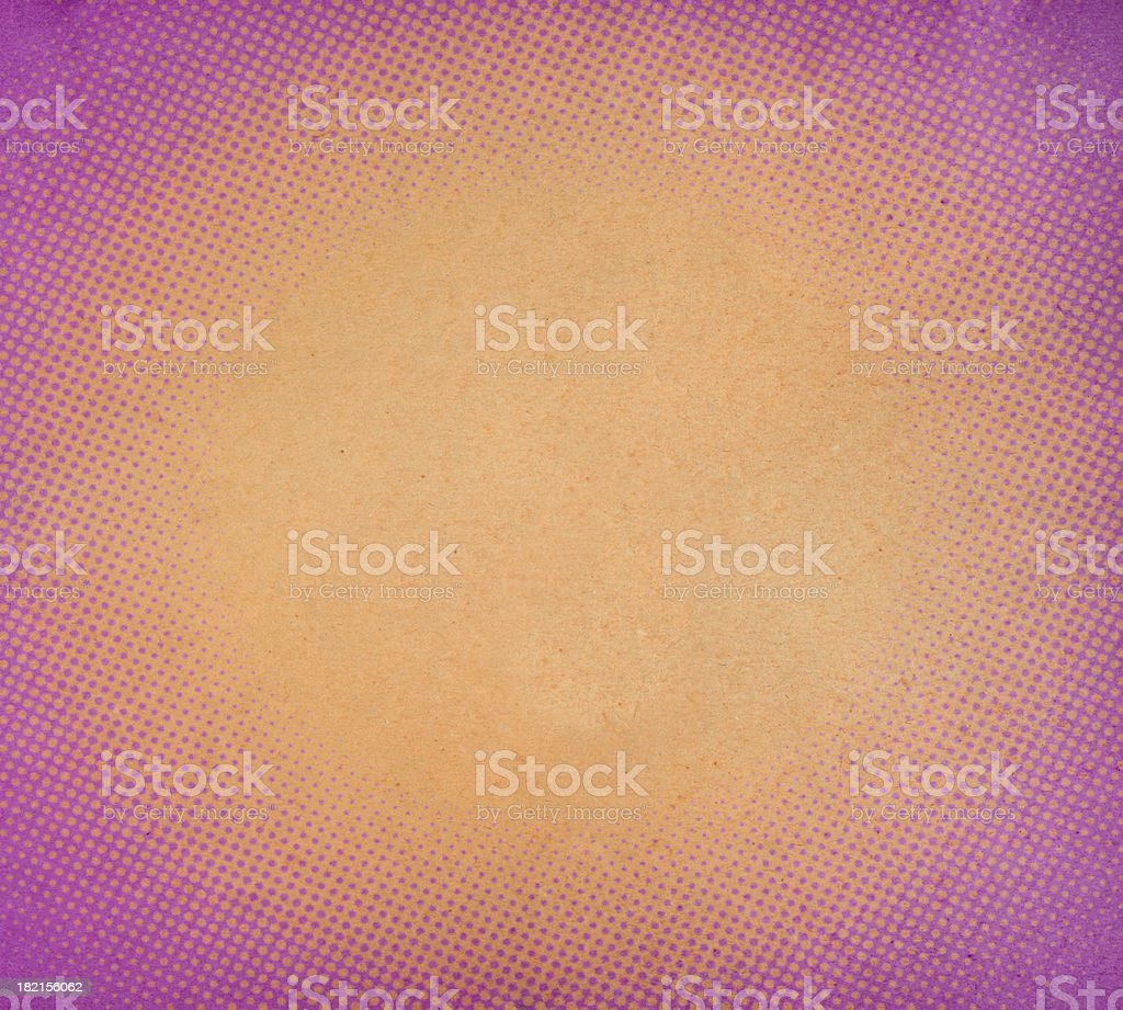 distressed paper with oval halftone stock photo