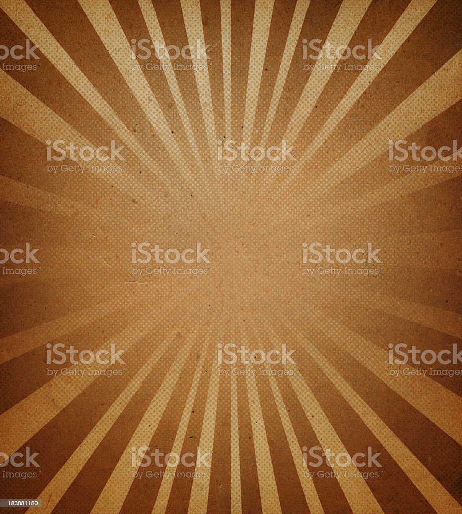 distressed paper with starburst pattern stock photo
