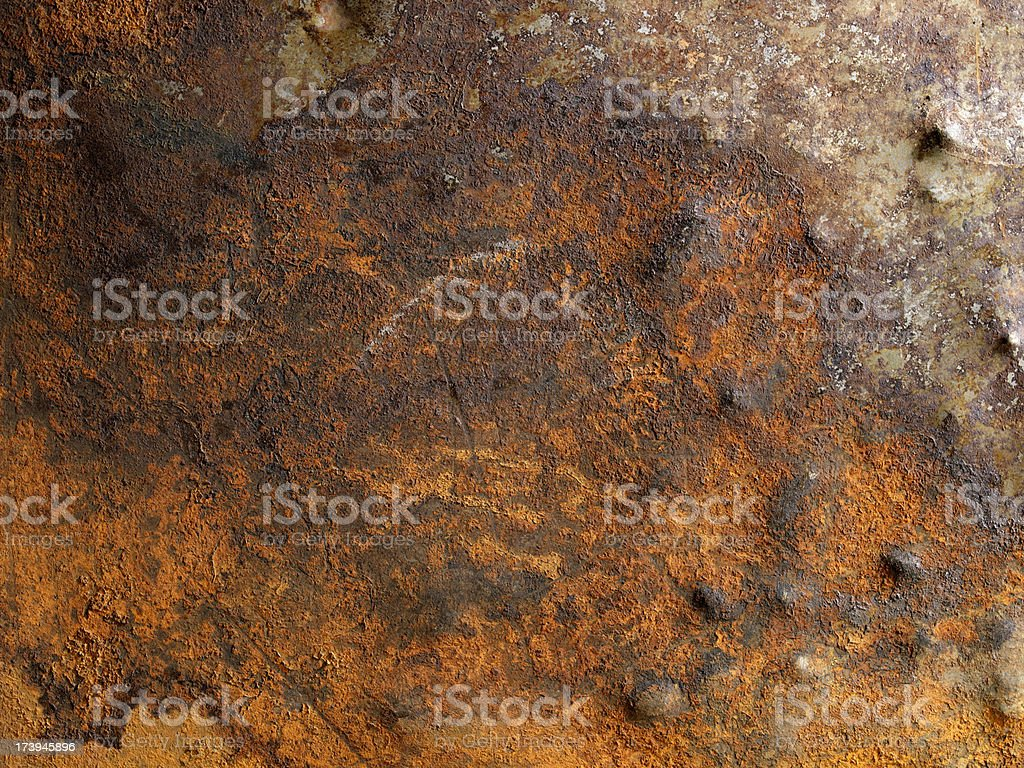 Distressed Rusty Metal Background royalty-free stock photo