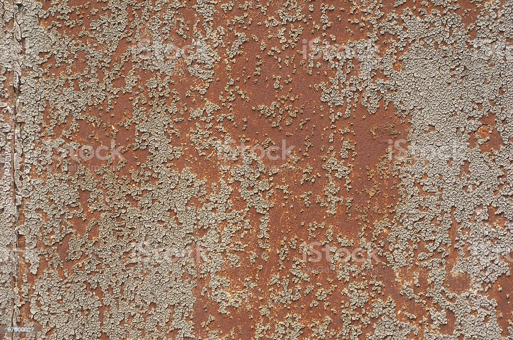 Distressed Rusty Metal royalty-free stock photo