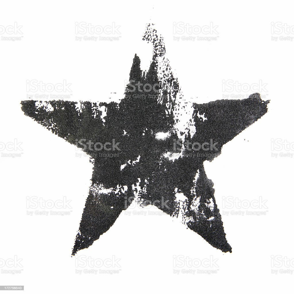 Distressed Star royalty-free stock photo