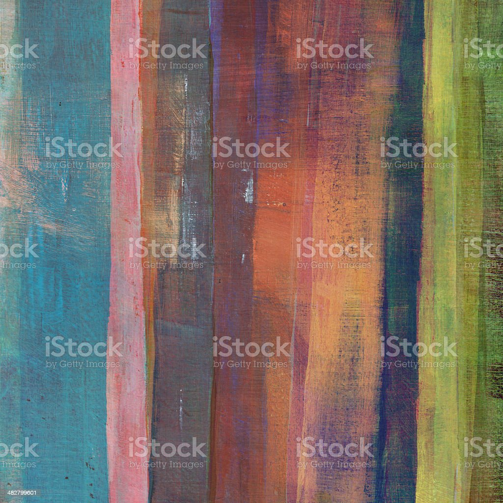 Distressed Striped Painting stock photo