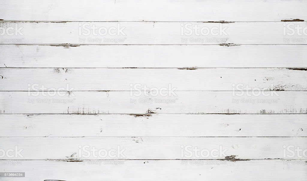 Distressed white wood texture background stock photo