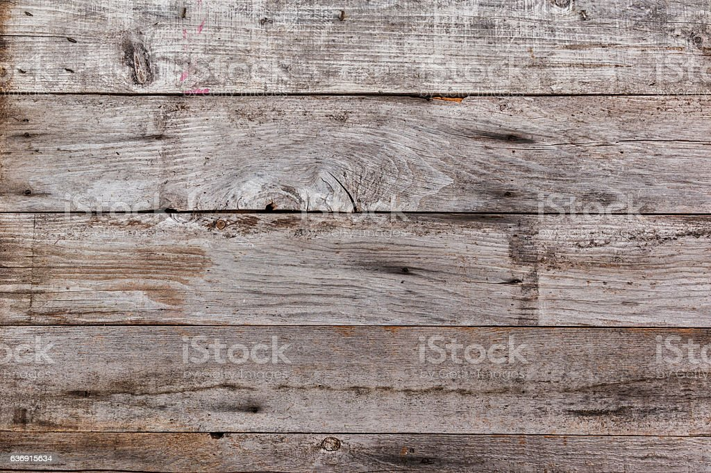 Distressed Wood Plank Background A backdrop composed of distressed wooden fence panels in a horizontal configuration Backgrounds Stock Photo