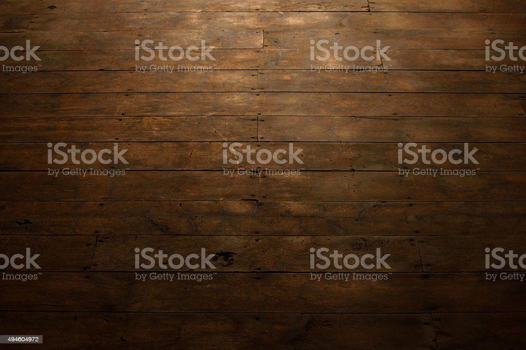 Distressed Wood Plank Flooring stock photo
